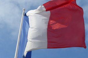 French Flag in Wind
