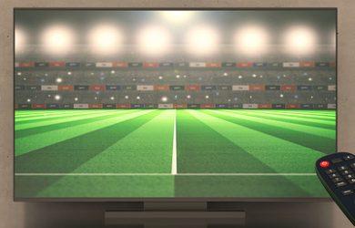 3D TV Showing Football