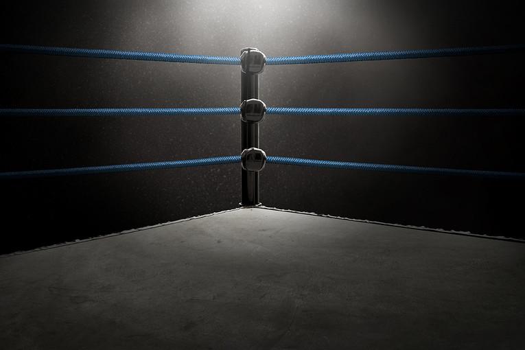 Corner of Empty Boxing Ring