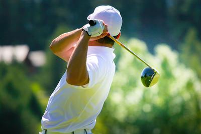 Golfer in White