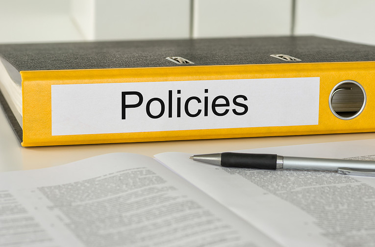 Policies Folder and Paperwork