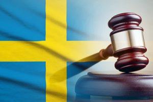 Gavel and Swedish Flag