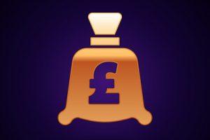Gold Coin Bag Icon