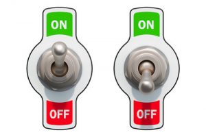 On and Off Toggle Switches