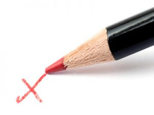 Pencil and Red Cross