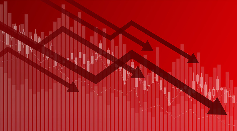 Red Financial Crisis Chart