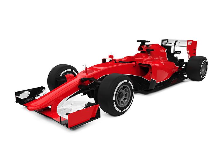 Red 3D Formula One Car