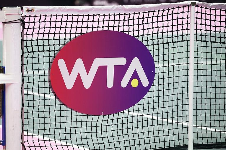 WTA Logo on Tennis Net