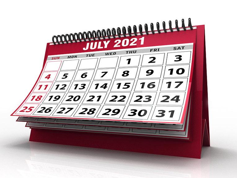 July 2021 Desktop Calendar