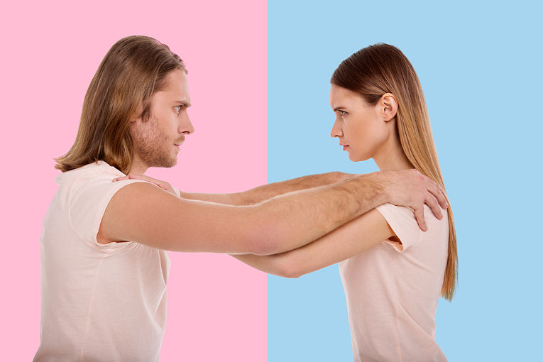 Man and Woman Rivals