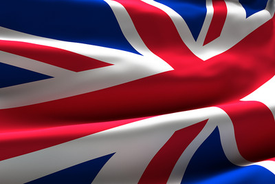 UK Flag with Crease