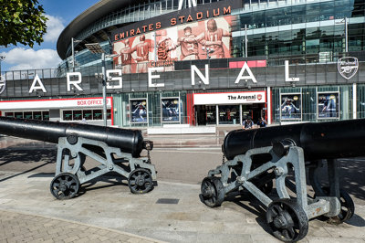 Arsenal Stadium and Cannons