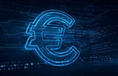 Digital Euro Currency Symbol