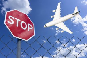 Stop Sign and Aeroplane