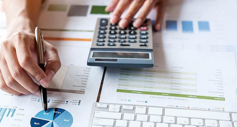Accountant Analysing Data