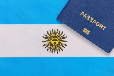 Argentinian Flag and Passport