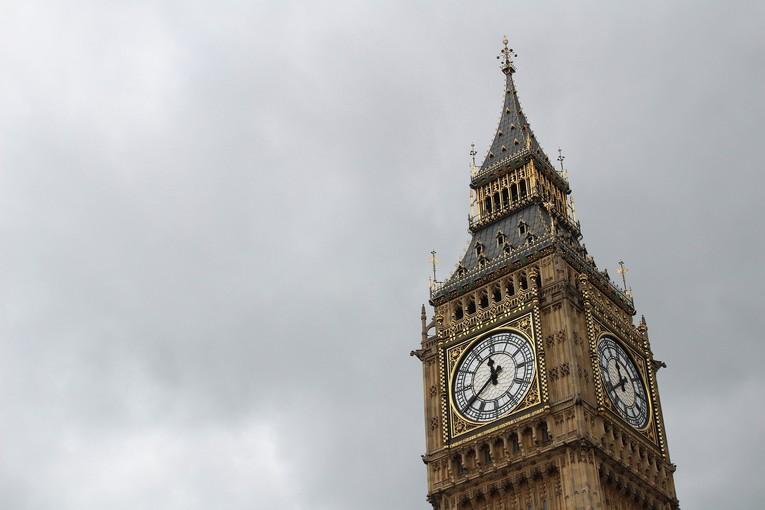 Big Ben Against Grey Clouds