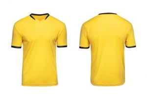 Yellow Football Shirt Front and Back