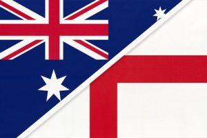 Australia and England Flags