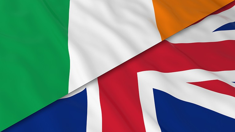 Flags of Ireland and Britain