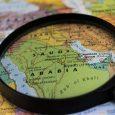 Saudi Arabia Map Under Magnifying Glass